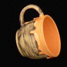 ceramic-mug-with-drips-orange-bolgarovaceramics