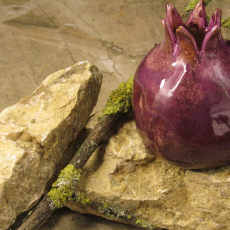 handmade-ceramic-pomegranate-purple-color-bolgarovaceramics