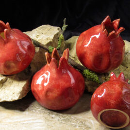 handmade-ceramic-pomegranate-red-color